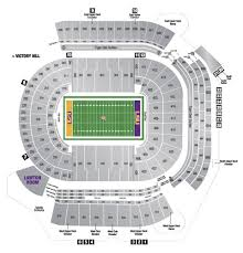 Auburn Seating Chart With Rows 2014 Tiger Stadium Seating Chart Lsu Lsu Tigers Football