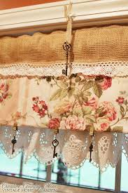 creative country mom s sewing burlap and lace curtains