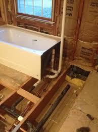 install bathtub plumbing trap ideas