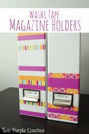 Magazine Holder Craft Classy Washi Tape Magazine Holders Two Purple Couches