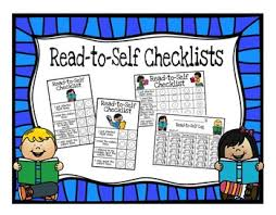 Read To Self Checklists Sticker Charts And Weekly Logs