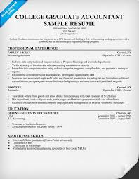 Gallery Of College Graduate Accountant Template Resume College