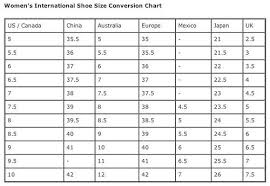 Womens Shoe Size Conversion Chart World Of Printables