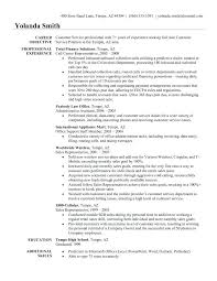 Sample Customer Service Representative Resume Resume Objective