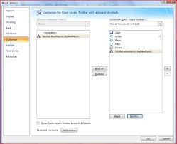 creating a quick access toolbar on for your macro