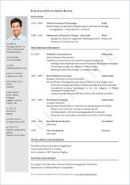 Simple Resume Format In Word Resume Example