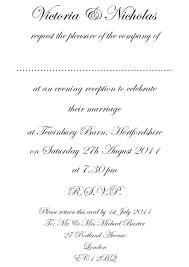Wedding Invitation Example Uk