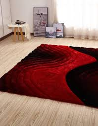csr2113 5x7 crown gy 3d red black area rug