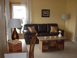 Living Room Design With Brown Leather Sofa Living Room Calm Brown Living Room With Brown Wall Look Matching