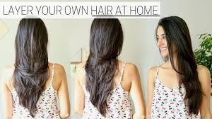 how i cut layer my hair at home diy long layers haircut