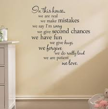 house rules e wall stickers home decor living room diy wall art decals removable sticker