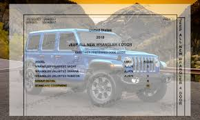 latest 2018 wrangler unlimited order guide brings big update ocean blue and punk n colors selec trac remote proximity keyless entry active noise control