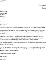 example of a cover letter uk cover letter for a legal assistant icover org uk