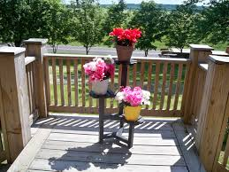 Full Size of Lawn & Garden, Deck outdoor plant stand wood plant stand 3 pot  ...