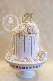 Pastel Pink And Gold Drip Cake For Francescas 21st Birthday Cake