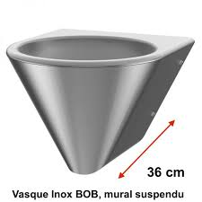 stainless steel sink bob hanging wall delabie