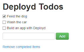 simple todo deployd
