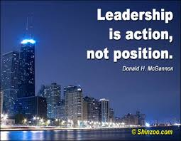 Quote On Leadership Leadership Is actionNot Position Leadership Quote 61