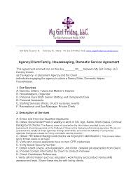 Nanny Housekeeper Contract Templates At