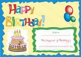 free happy birthday template birthday certificate template