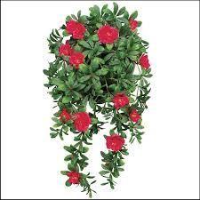 hanging red azalea vine outdoor artificial to enlarge