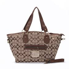 Coach Legacy In Signature Jacquard Medium Khaki Totes EWQ