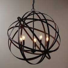fantastic large metal orb chandelier industrial style and metals world market pendant light images