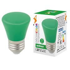 (UL-00005640) <b>Volpe E27 1W</b> зеленая матовая <b>LED</b>-D45-<b>1W</b> ...