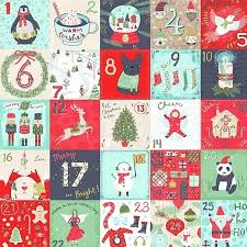 Fabric for Christmas - quilt & craft cotton from London UK & Days of Christmas 60cm (24 inch) Advent Calendar fabric panel quilt fabric  1907- Adamdwight.com