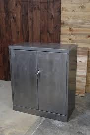 Metal storage cabinets with doors Steel Loading Etsy Refinished Hinged Door Metal Storage Cabinet Tool Storage Etsy