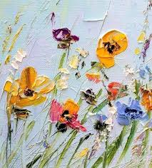 fl paintings on canvas oil painting flowers palette knife painting on canvas with us now
