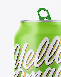 Background color can be changed. 350ml Matte Aluminium Drink Can Mockup In Can Mockups On Yellow Images Object Mockups