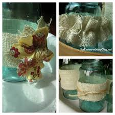 Mason Jars Decorated With Twine Vignette Blue Glass Jars An Extraordinary Day 74