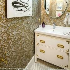 Budget Stencils Bathroom Stencil Ideas Wall Stencils The Secret To