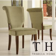 TRIBECCA HOME Andorra Olive Velvet Upholstered Dining Chair (Set of 2) |  Overstock.
