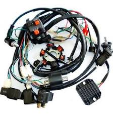gy6 wiring harness ebay Znen Wiring Harness Connected To Battery full electrics wiring harness cdi coil solenoid gy6 150cc atv quad buggy go kart