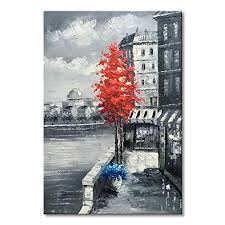 red tree canvas wall art art gallery