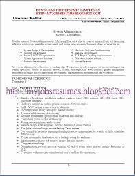 Sample Resume For Linux System Administrator Fresher