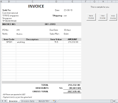 Create An Invoice In Excel Interesting Make Invoice Template Excel Denryoku