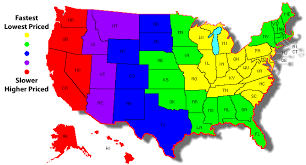 Usps Zone Chart Map Www Imghulk Com