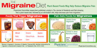 Plant Based Diet Chart Struggling With Migraines Try The Plant Based Migraine Diet
