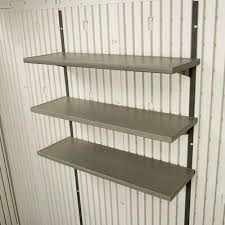 30 in polyethylene shelf kit for 8 ft lifetime shed shelves storage wall