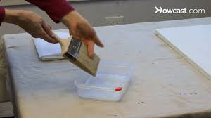 how to gesso a canvas