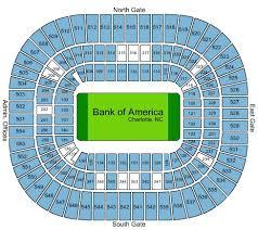 Carolina Panthers Tickets Seating Chart Bank Of America Stadium Tickets Charlotte Nc