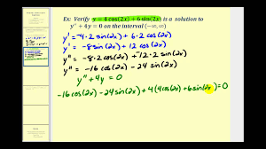 verifying solutions to diffeial equations