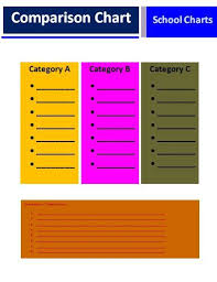 Free Blank Flow Chart Template For Excel Comparison Chart Templates 3 Free Printable Word Excel