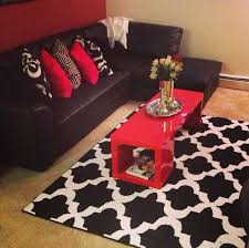 Red And Black Living Room Decorating Ideas Cool Color Scheme Red Black Living Room Decorating Ideas