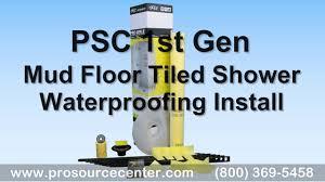 psc gen one mud floor shower waterproofing kit install like schluter kerdi 32 x 60 center