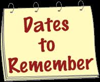 Image result for clipart dates to remember