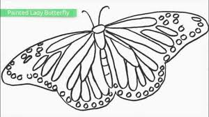 Profile of a butterfly with flowers. Top 25 Free Printable Butterfly Coloring Pages Youtube